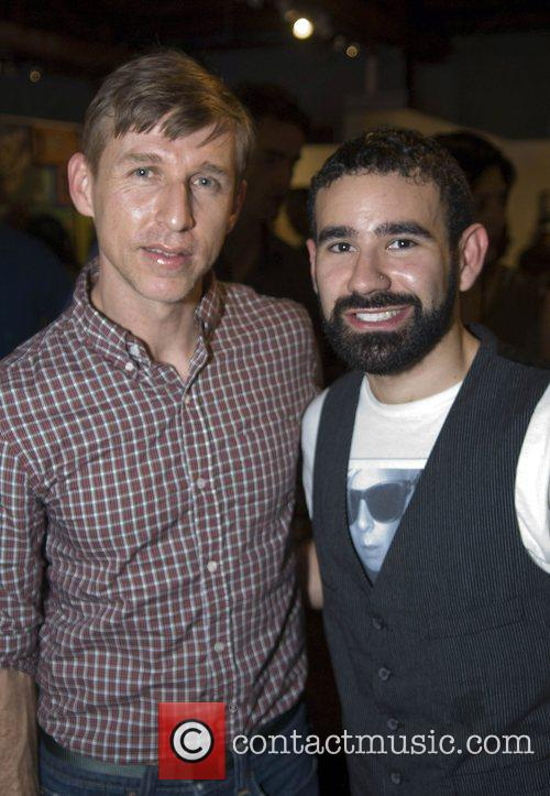 Designer Todd Oldham and friend Alejandro Santiago attends...