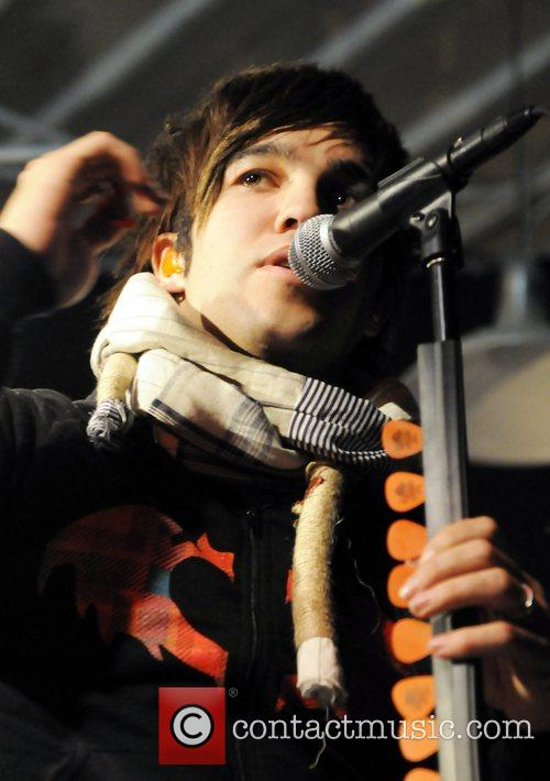 Fall Out Boy performing a sold-out show at...