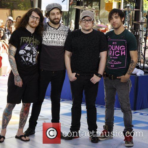 Andy Hurley, Patrick Stump and Pete Wentz 8
