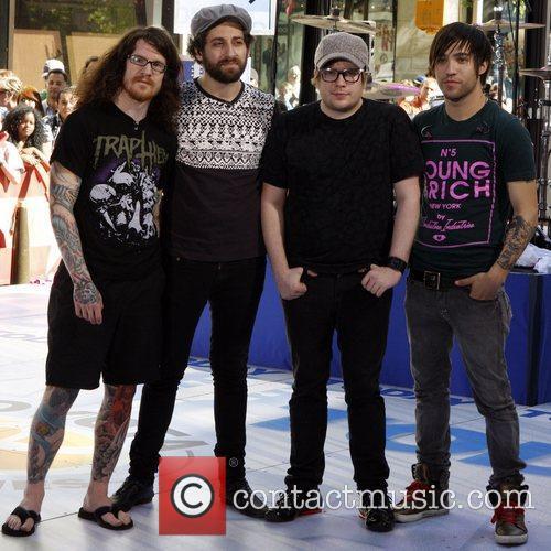 Andy Hurley, Patrick Stump and Pete Wentz 6