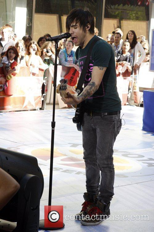 Performing on the 'Today Show' at Studio 1A...