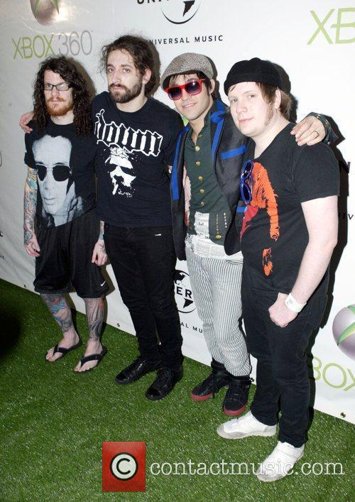 Andy Hurley, Fall Out Boy, Patrick Stump and Pete Wentz 1
