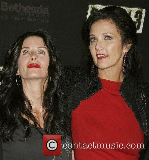 Courteney Cox Arquette and Lynda Carter Fallout 3...