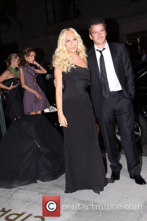 Donatella Versace and Balthazar Getty Fashion Group International...