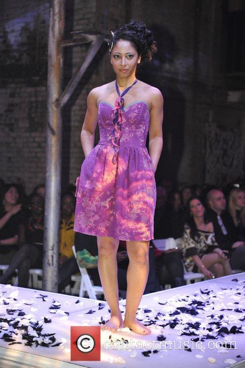 Jacqui Skeete models designs by Nada Yousif at...