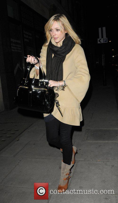 Fearne Cotton leaves the Radio 1 studios after...