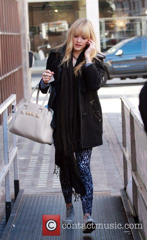 Fearne Cotton arriving at BBC Radio 1 studios