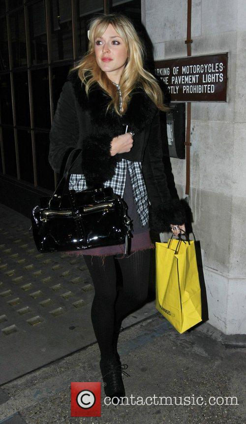 Fearne Cotton seen leaving the BBC Radio One...