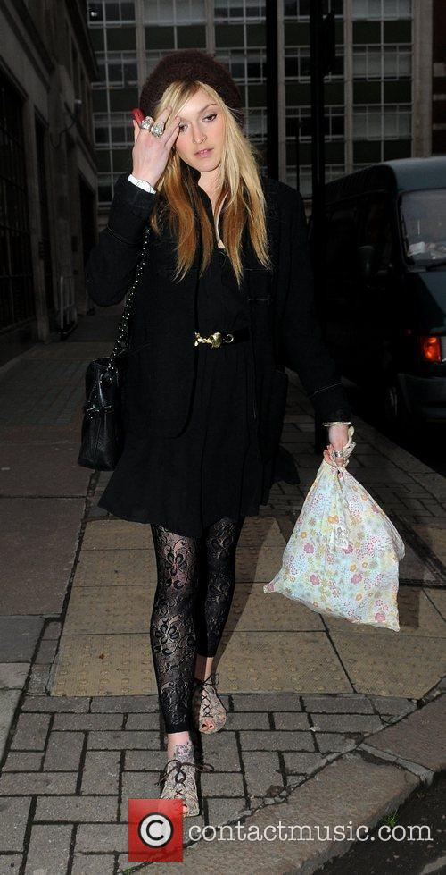 Fearne Cotton seen leaving the Radio One studios...
