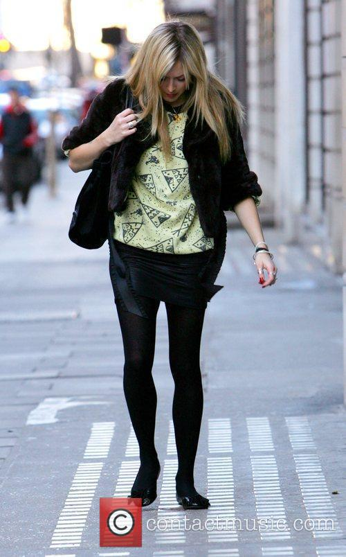 Fearne Cotton  arrives at Radio 1 to...