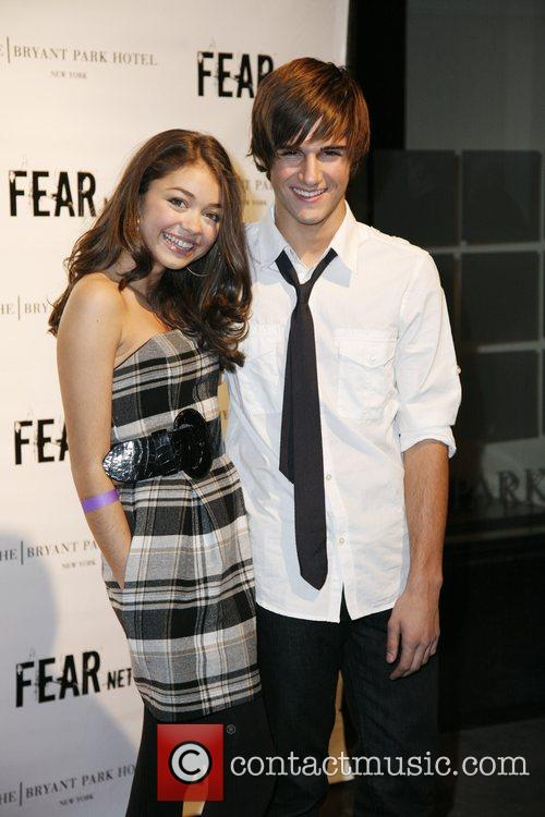 Sarah Hyland and Max Ehrich FEARnet 2nd anniversary...