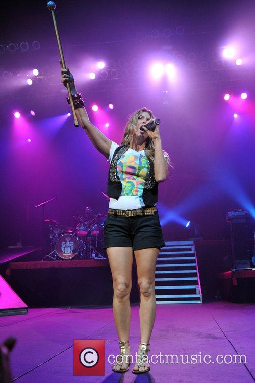 Fergie aka Stacey Ferguson  performs at the...