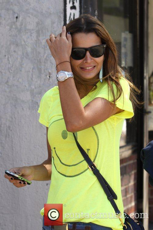 Brazilian model Fernanda Motta out and about in...