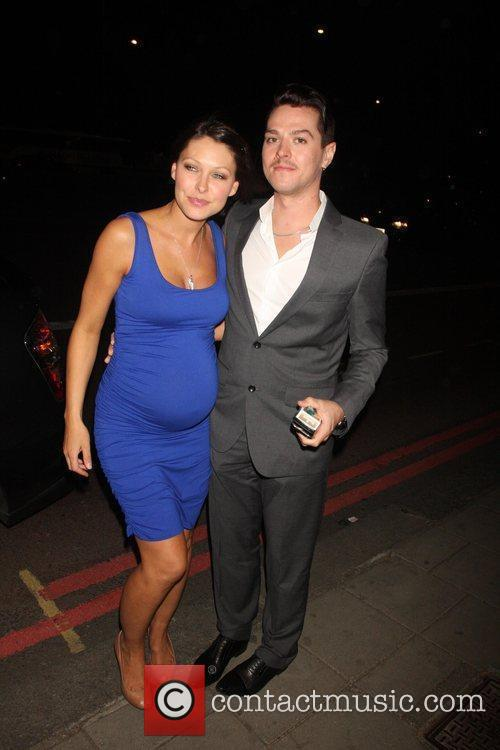 Matt Willis and Emma Griffiths outside the FiFi...