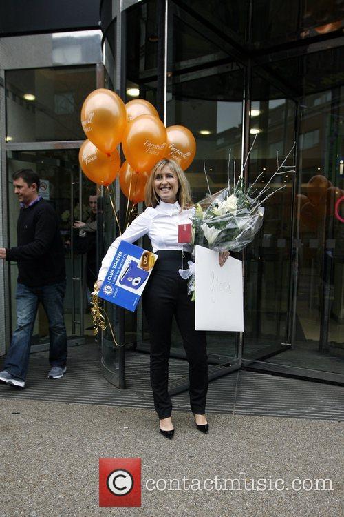 Fiona Phillips 'GMTV' presenter seen leaving the ITV...