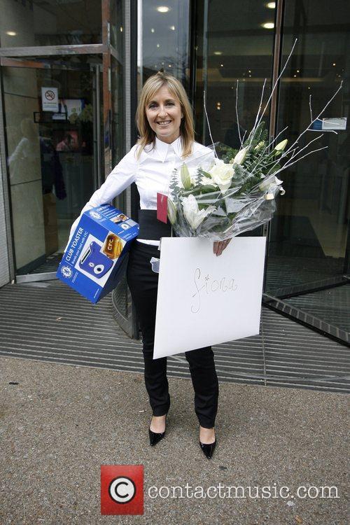 Fiona Phillips 'GMTV' presenter Fiona Phillips seen leaving...