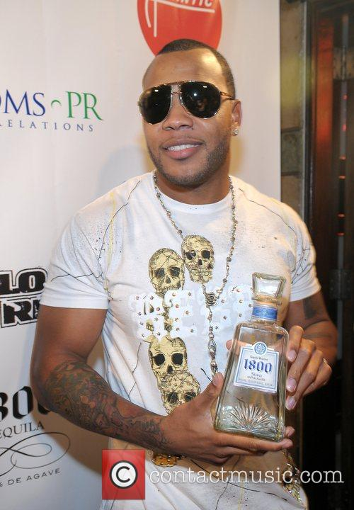 Flo Rida arrives to his birthday celebration at...