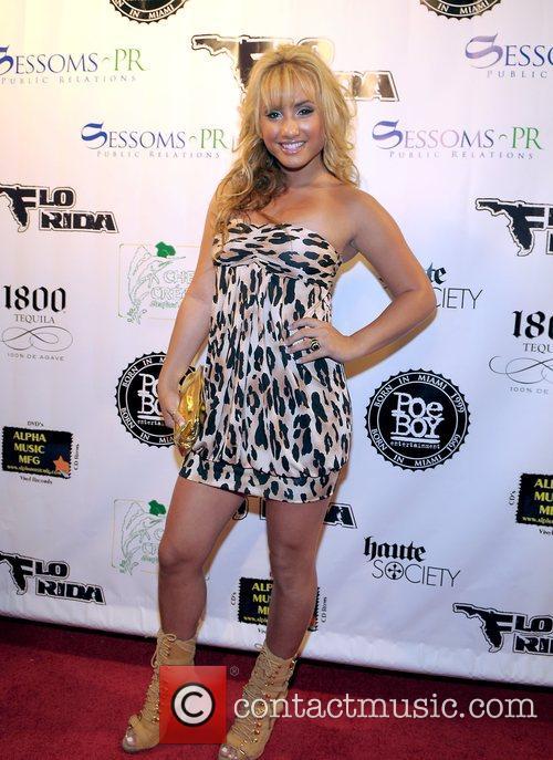 Montana Tucker arrives to Flo Rida's birthday celebration...