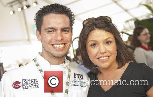 FIU student chef Andres Villabona and Rachael Ray...