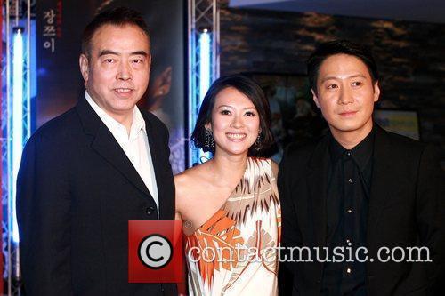 Chen Kaige, Zhang Ziyi and Leon Laiduring