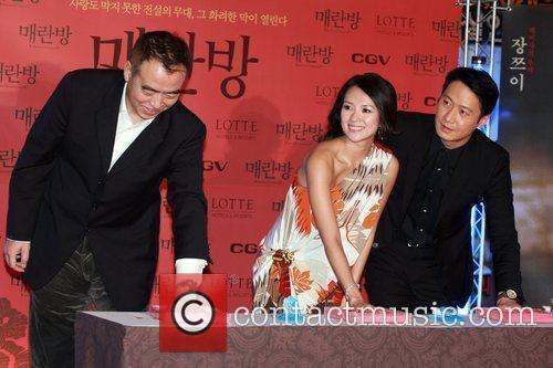 Hand-print ceremony for the cast of the Chinese...