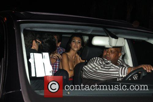 Kourtney Kardashian leaving Foxtail Los Angeles, California