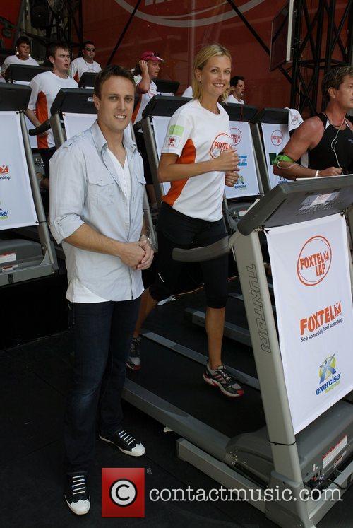 Sarah Murdoch and Matt Shervington The Foxtel Lap...