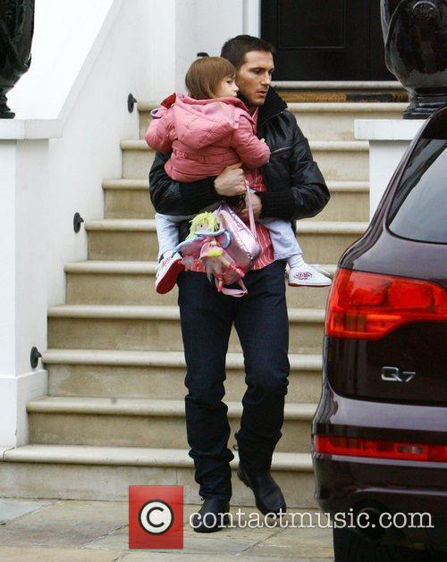 Frank Lampard and his daughter Luna leaving home...