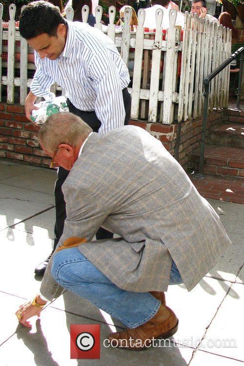 Frederic Prinz von Anhalt leaving the Ivy restaurant...
