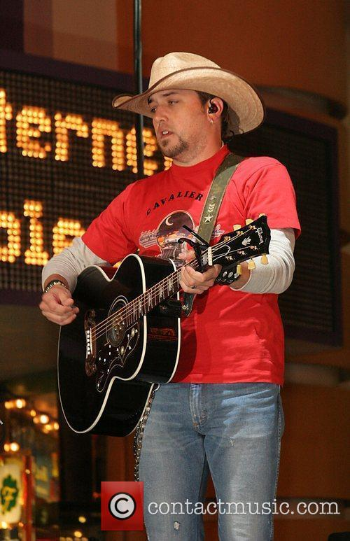Performing at the ACM Awards Freemont Street Concert...