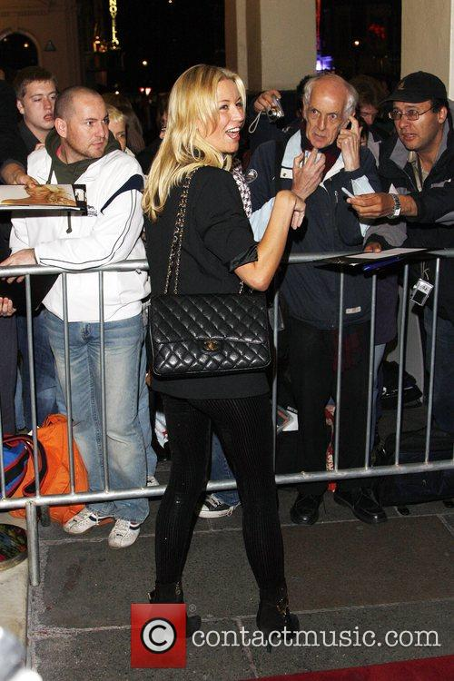 Denise Van Outen attends the opening night of...