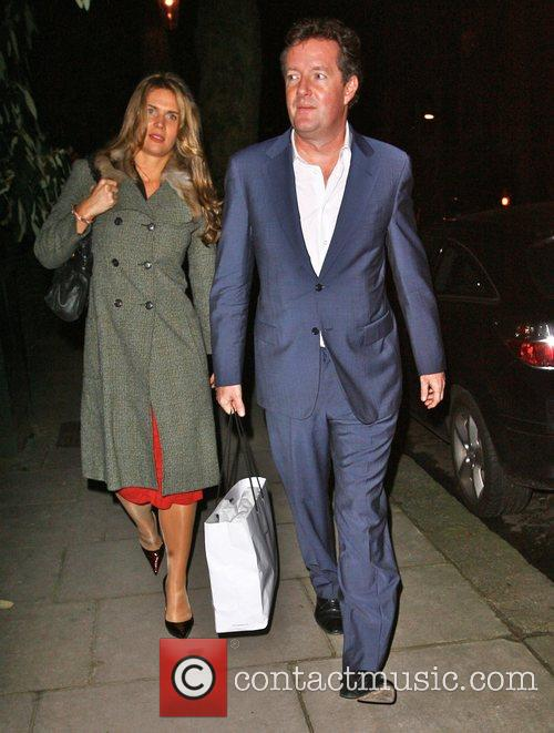 Piers Morgan and Celia Walden attending the Freud...