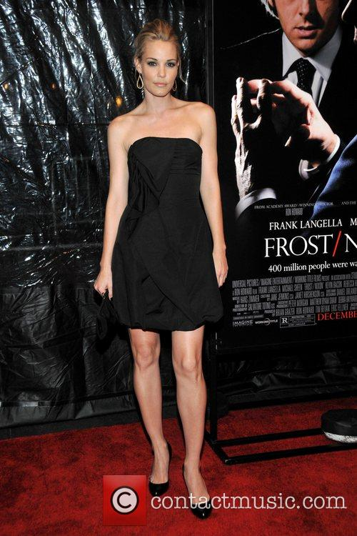 Leslie Bibb at the premiere of 'Frost/Nixon' at...
