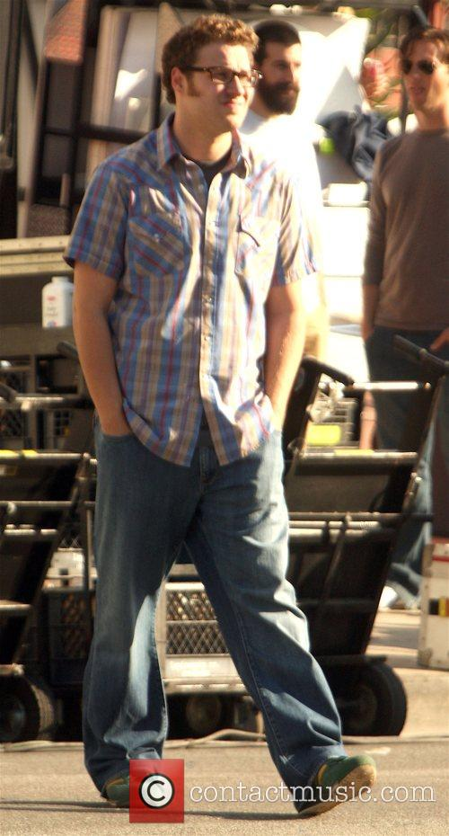 On the set of his new film 'Funny...
