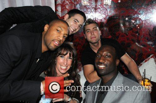 Lance Bass partying with friends at the G...