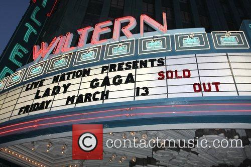 Lady Gaga performs at the Wiltern theatre
