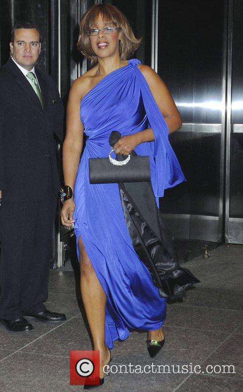 Gayle King leaving her Manhattan hotel New York...