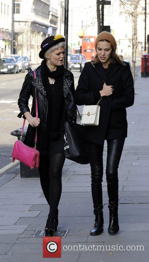 Alexa Chung and Pixie Geldof take a walk...