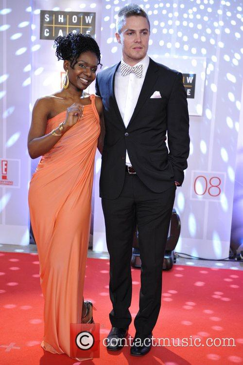 Ngozi Paul (L) and Stephen Amell (R) 23rd...