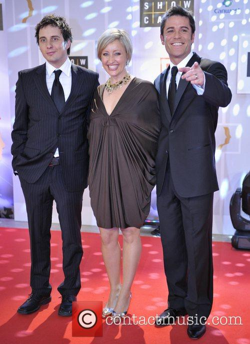 Yannick Bisson (L), Chantal Craig (M) and Jonny...