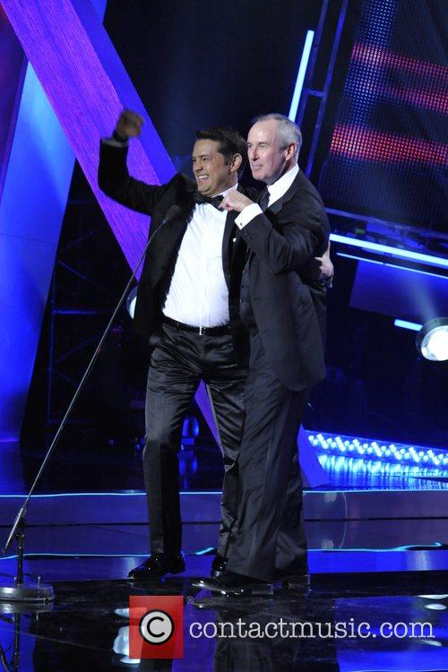 Jason Priestly (L) and Ron MacLean (r) 23rd...