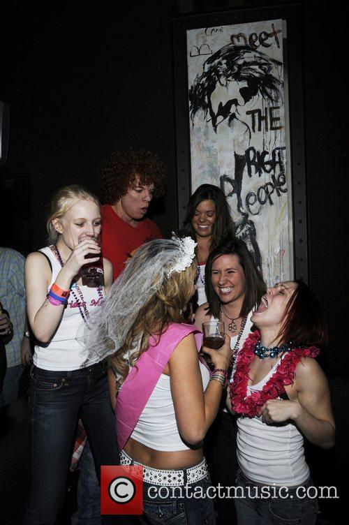 Carrot Top dances with a bridal party Moneybag...