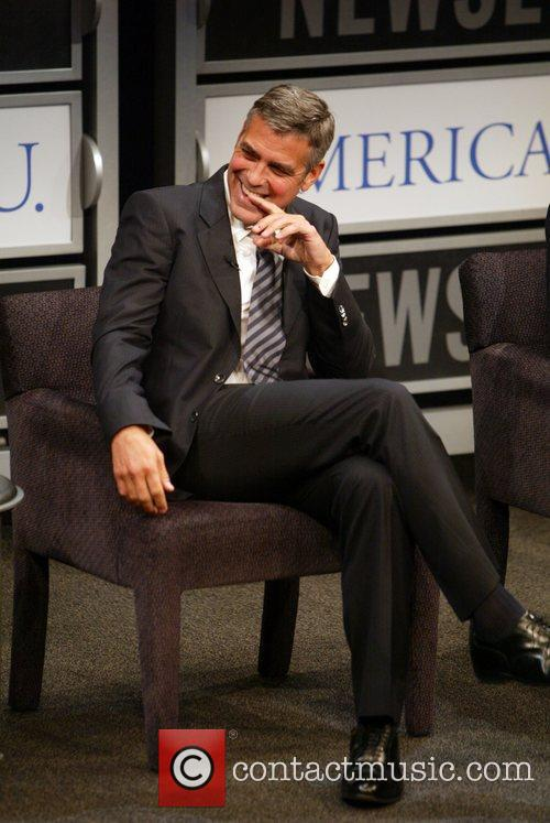 George Clooney at the Newseum and the American...