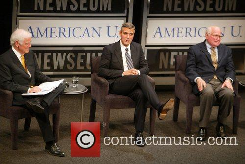 Nick Clooney, George Clooney and Bill Small at...