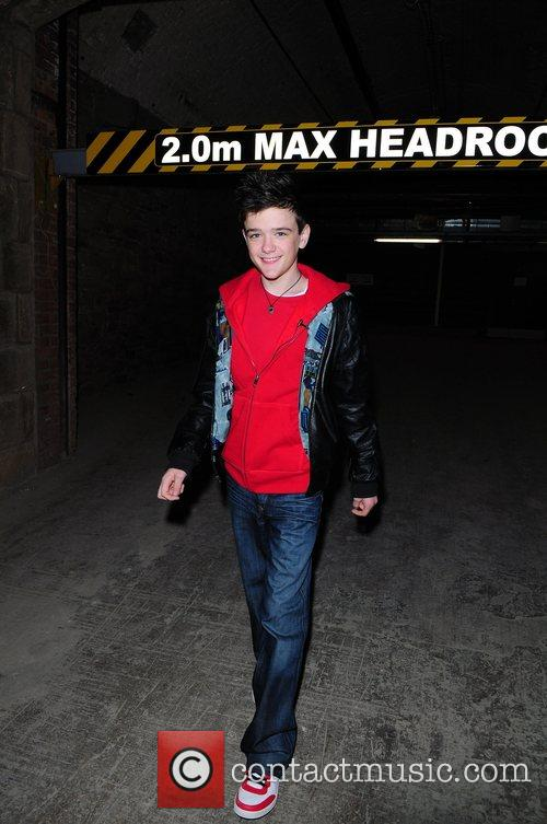 George Sampson meets fans and signs autographs at...
