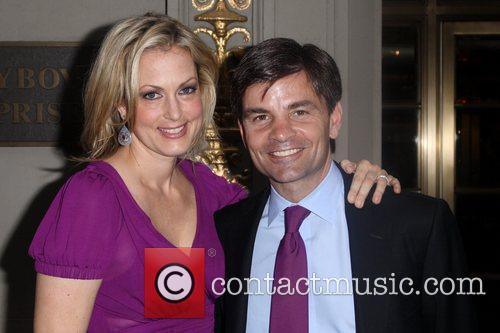 George Stephanopoulos and wife Alexandra Wentworth seen walking...