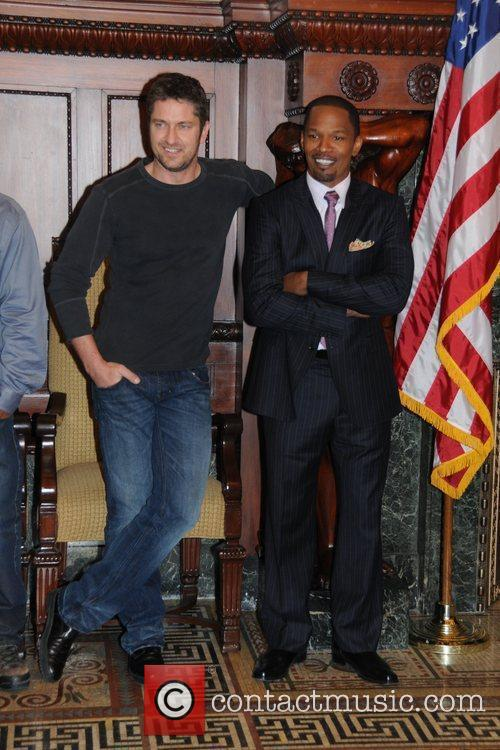 Gerard Butler and Jamie Foxx Stars of the...
