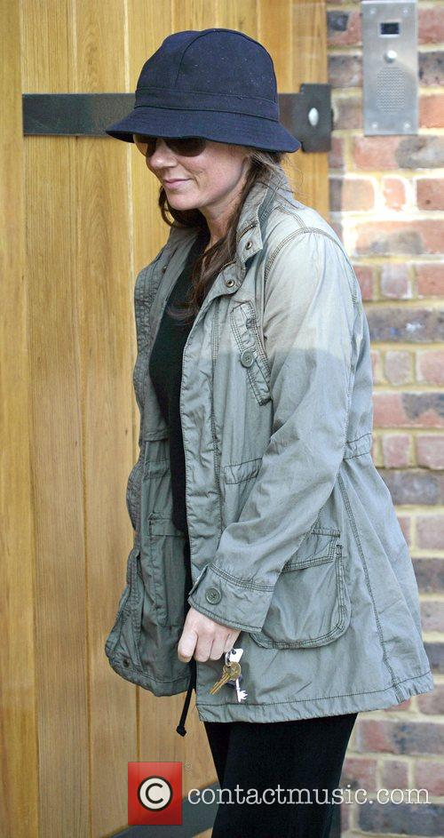 Geri Halliwell  returns home after going for...