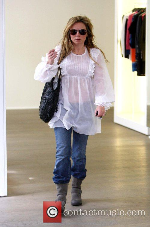 Geri Halliwell  out shopping in Notting Hill...