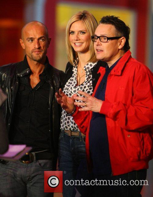 Peyman Amin, Heidi Klum and Rolf Scheider, Germany's...